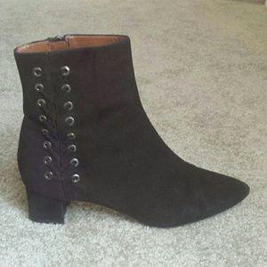 Aquatalia black suede boots 10 Italy